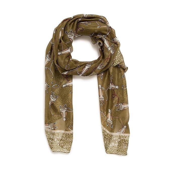 MONOPRIX FEMME - Etole en soie imprimé cheval - Femme - Taille   TU -  Couleur 7b9904af89f