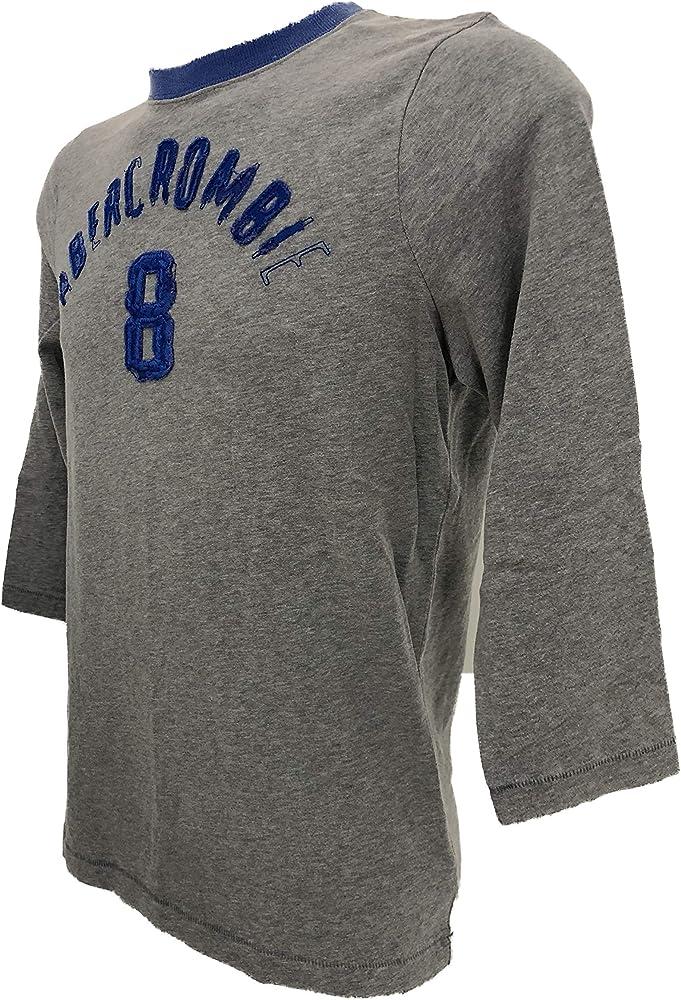 Abercrombie & Fitch Hombre Camisetas de Manga Larga (Gris, X-Large ...