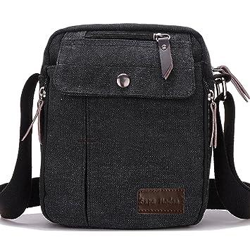 76077fdf83d SUPA MODERN® Men Small Vintage Canvas Messenger Bag Cross body bag Pack  Organizer Satchel Bag Durable Multi-pocket Sling Shoulder Bag  Amazon.co.uk   Luggage