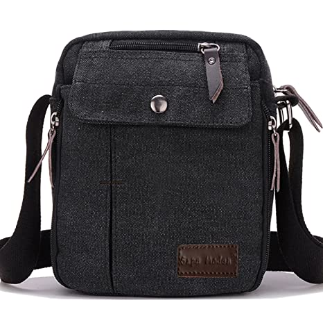 SUPA MODERN® Men Small Vintage Canvas Messenger Bag Cross body bag Pack  Organizer Satchel Bag Durable Multi-pocket Sling Shoulder Bag  Amazon.co.uk   Luggage d201fc8f910a3