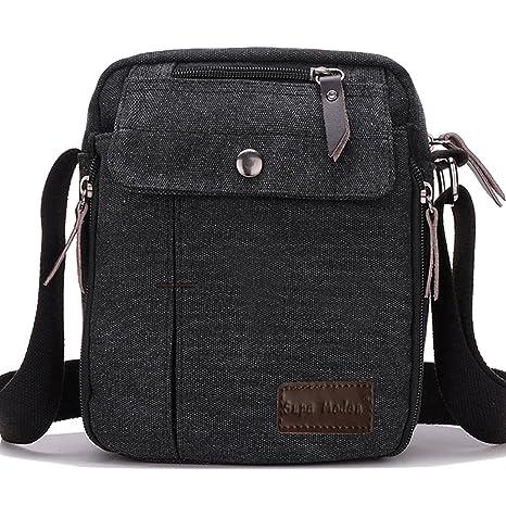 SUPA MODERN® Men Small Vintage Canvas Messenger Bag Cross body bag Pack  Organizer Satchel Bag Durable Multi-pocket Sling Shoulder Bag   Amazon.co.uk  Luggage 5589b729443e1