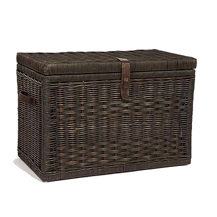 The Basket Lady Wicker Storage Trunk   Wicker Storage Chest, Large  (30u0026quot; L