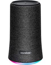 Portable Bluetooth Speaker, Soundcore Flare Wireless Speaker by Anker, Waterproof Party Speaker with 360° Sound, Enhanced Bass & Ambient LED Light, IP67 Waterproof and 12-Hour Battery Life