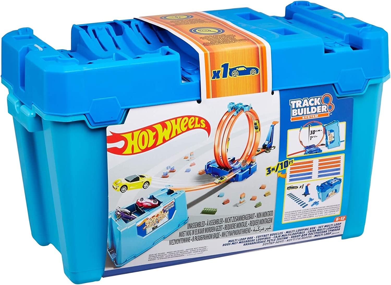 Hot Wheels Track Builder Stunt Box Connectable Race Kit Kids Activity Playset