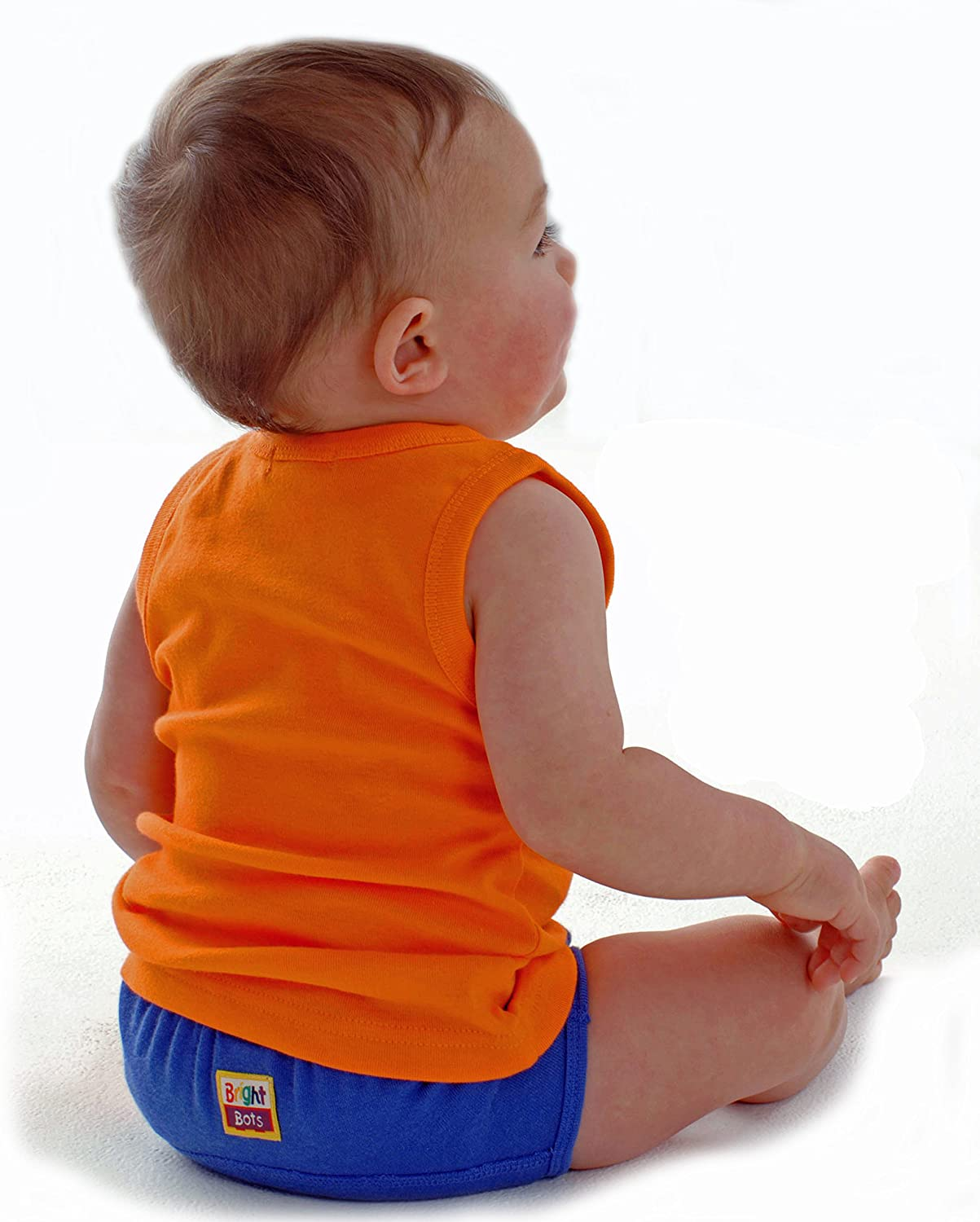Bright Bots Washable Potty Training Pants Culotte dapprentissage 4pk Large with PUL Lining approx 24-30mois Garcon