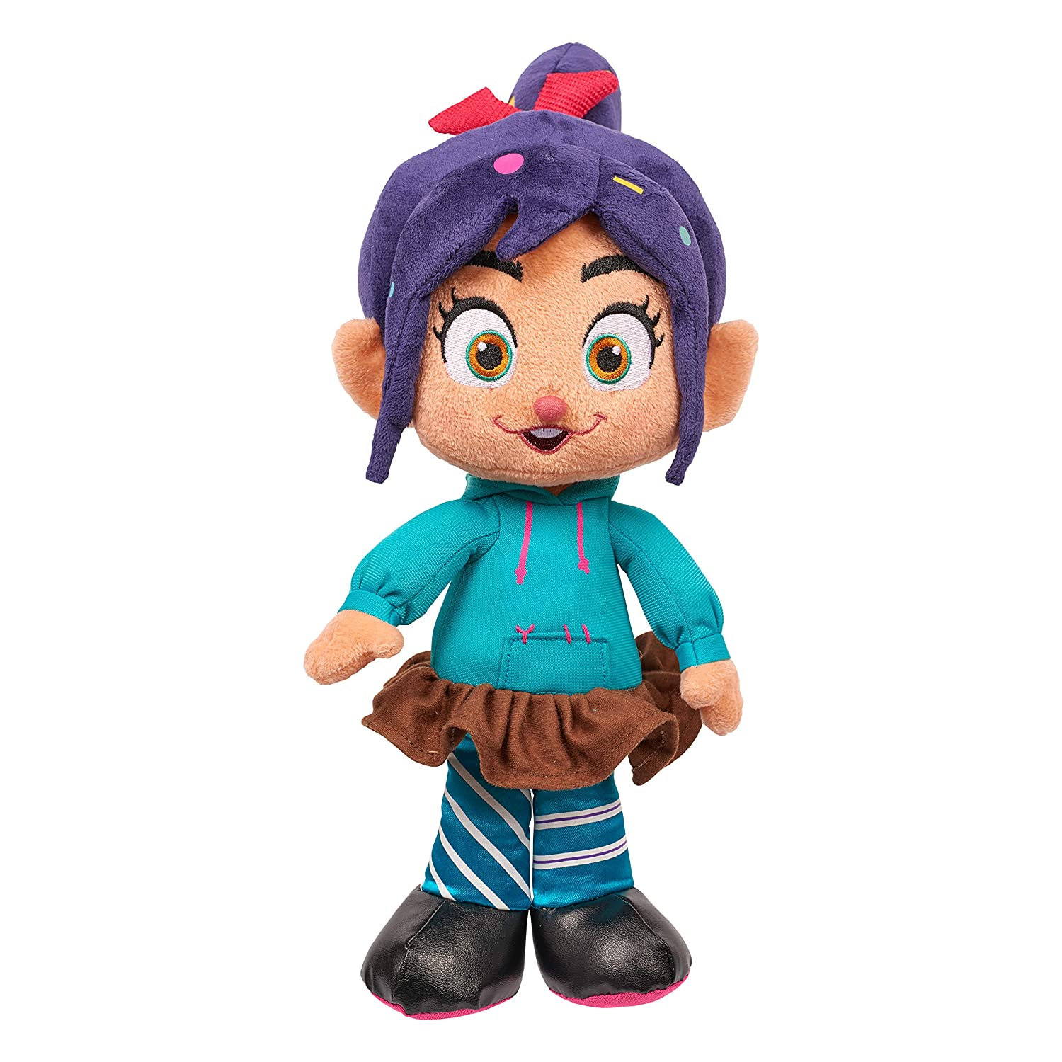 Brown Mailer Just Play Import 12541 Wreck-It Ralph 12 Laughter /& Lights Vanellope Plush