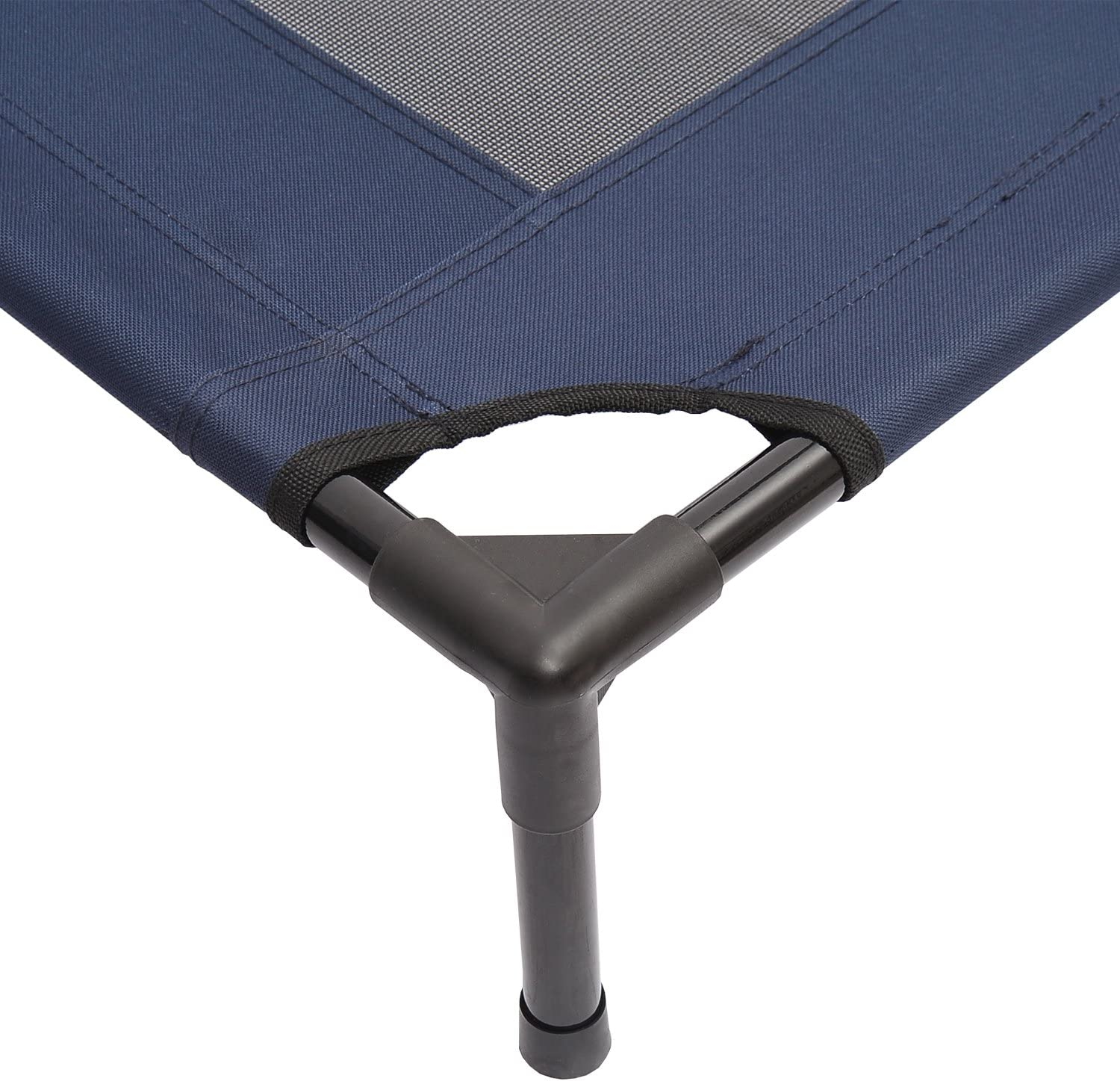 Blue PawHut Dog Cat Puppy Pet Elevated Raised Cot Bed Portable Camping Basket Large