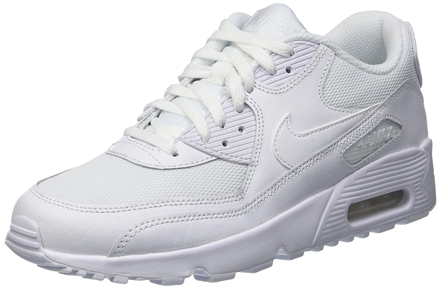 NIKE AIR MAX 90 MENS WHITE LEATHER MESH TRAINERS VARIOUS SIZES