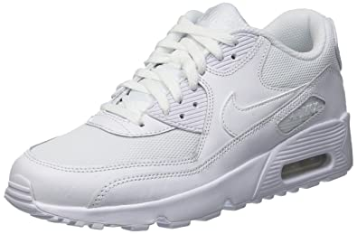 Nike Mens Air Max 90 Mesh Grade School Athletic & Sneakers White