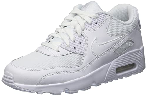Nike Air Max 90 Mesh (GS) Sneaker White, Color:White, EU