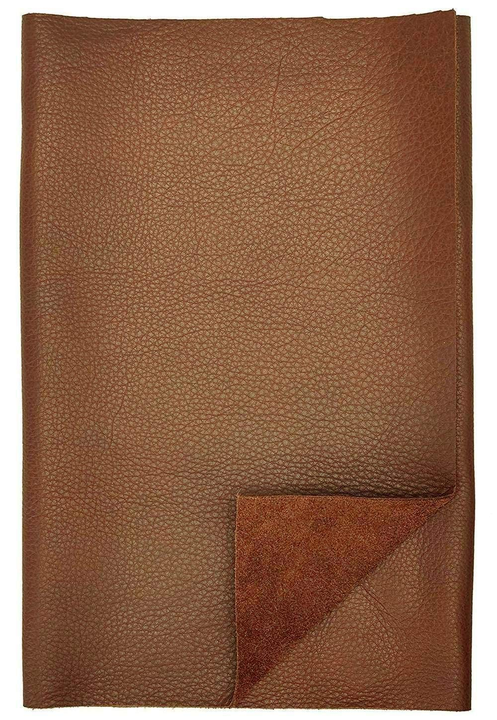 REED Leather HIDES - Cow Skins Various Colors & Sizes (100 Square Foot, Brown)
