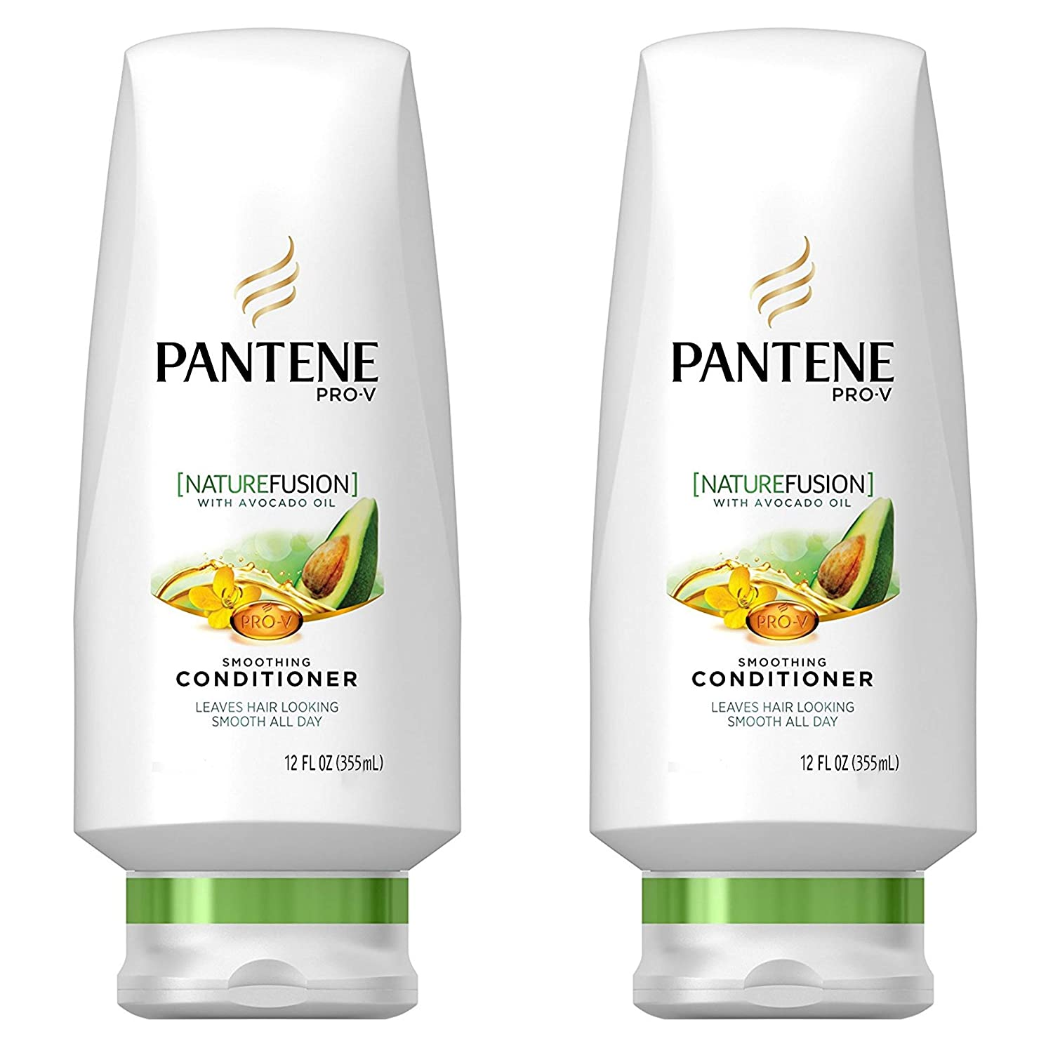 Pantene Nature Fusion Smoothing Conditioner With Avocado Oil, 12 oz (Pack of 2)
