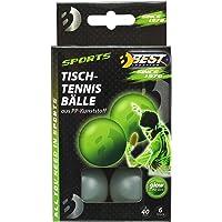 Best Sporting Fun Pelotas Diversión Pelotas Pelotas de Tenis de Mesa 6St, Brillan en la Oscuridad Glow in The Dark