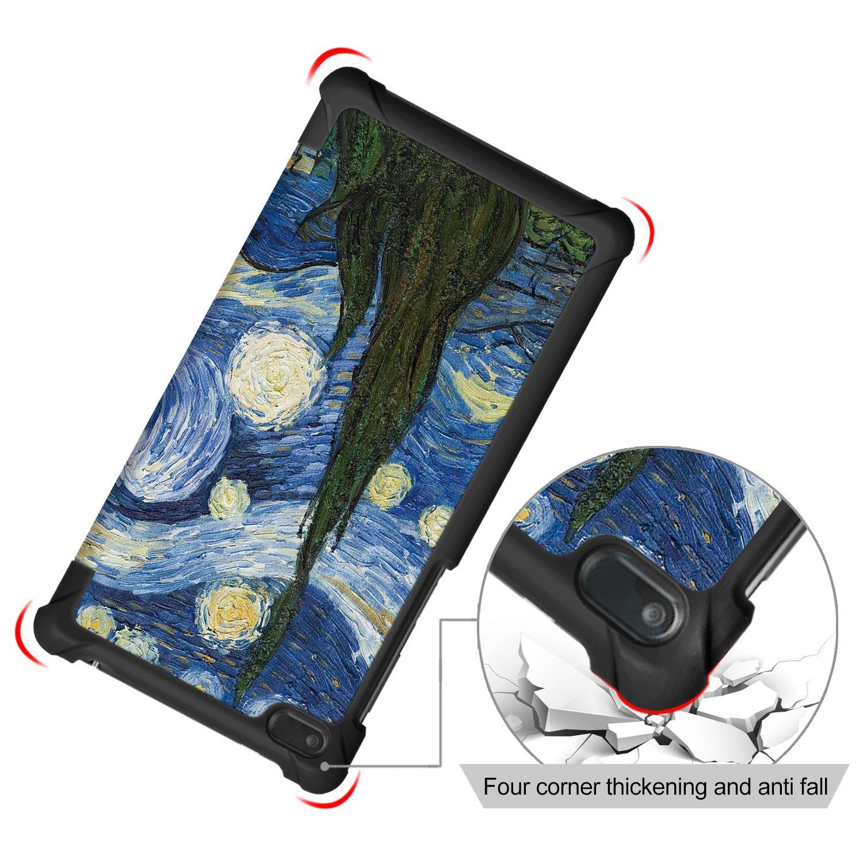 Cielo Stellato Lenovo Tab 7 Cover TB-7504N Custodia Ultra Sottile e Leggero con Coperture da Supporto per Lenovo Tab 7 TB-7504F TB-7504X Tablet con Display da 7 Modello 2017