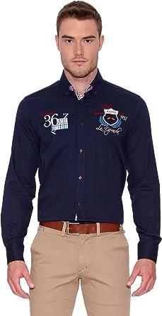 La Española Camisa Hombre Azul Marino S: Amazon.es: Ropa y accesorios