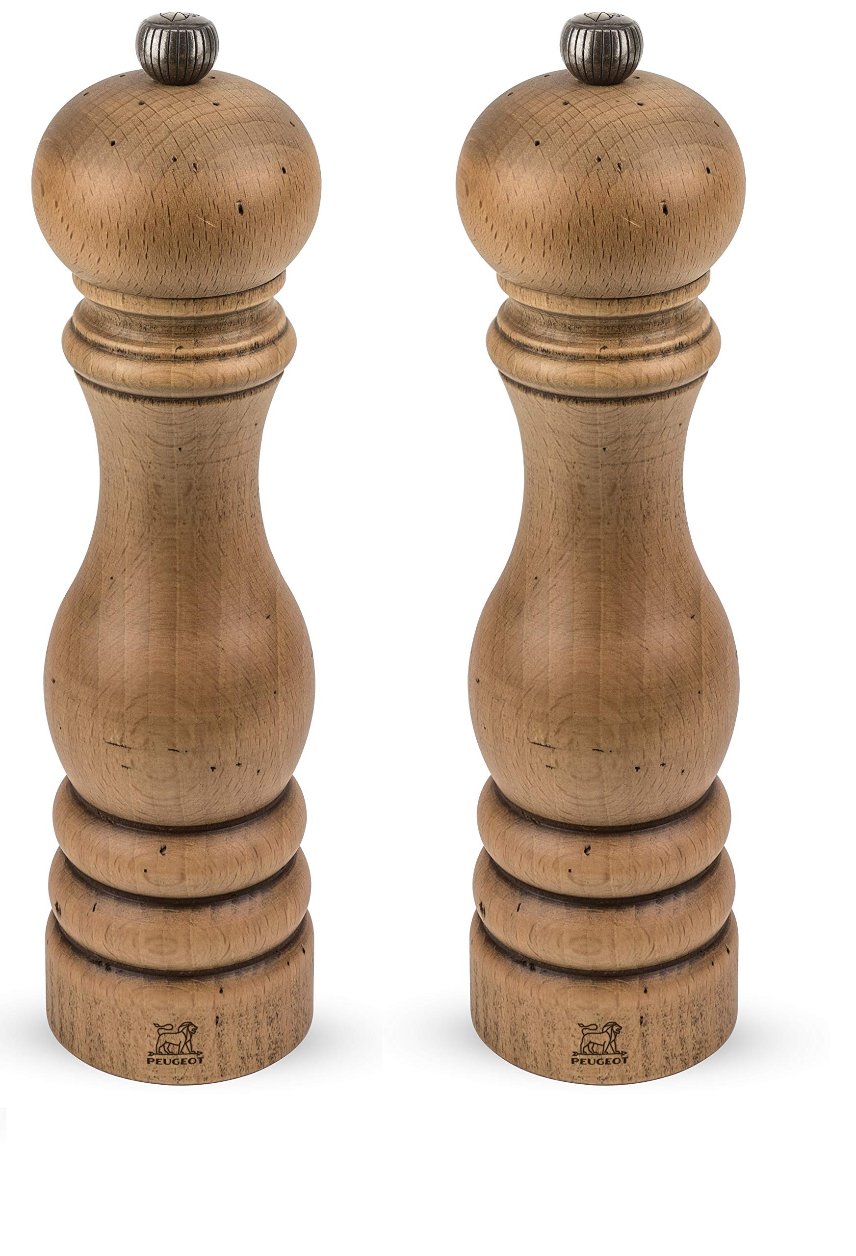 Peugeot Paris Antique Salt And Pepper Mill Set 8 3/4'' by Peugeot