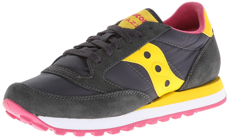 Saucony Originals Women's Jazz Original Sneaker B00DGJK6SI 7.5 B(M) US|Charcoal/Yellow