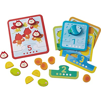 HABA Animal Counting Matching Game - Reinforcing Numbers 1-5 - Ages 18 Months and Up (Made in Germany): Toys & Games