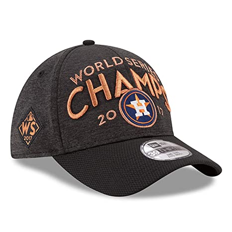 321b55eb8 Amazon.com : New Era Houston Astros 2017 World Series Champions Locker Room  39THIRTY Flex Hat Graphite : Sports & Outdoors