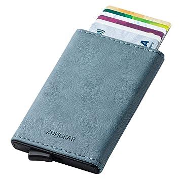 images détaillées magasin en ligne détails pour LUNGEAR Porte Carte Pop up Cuir RFID Blocage Porte Carte de ...
