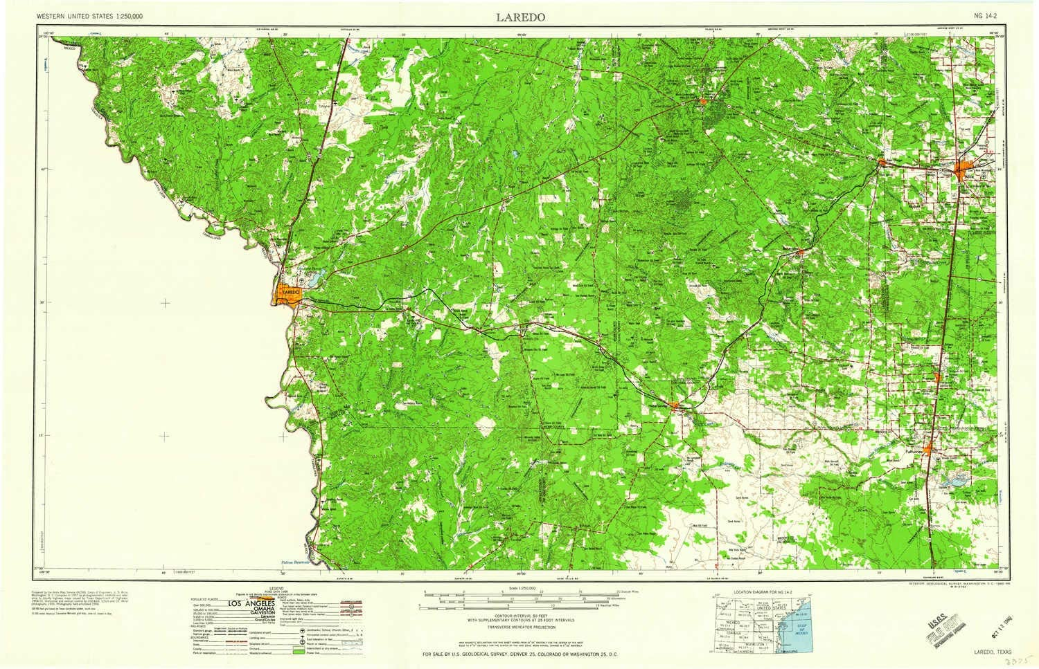 Amazon Com Yellowmaps Laredo Tx Topo Map 1 250000 Scale 1 X 2
