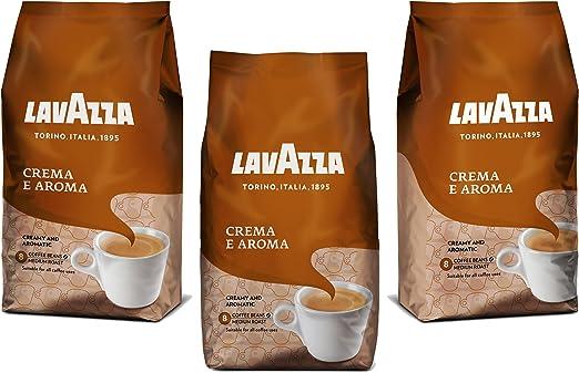 Lavazza Crema e Aroma, Café en Grano, Pack de 3, 3 x 1000g: Amazon.es: Hogar