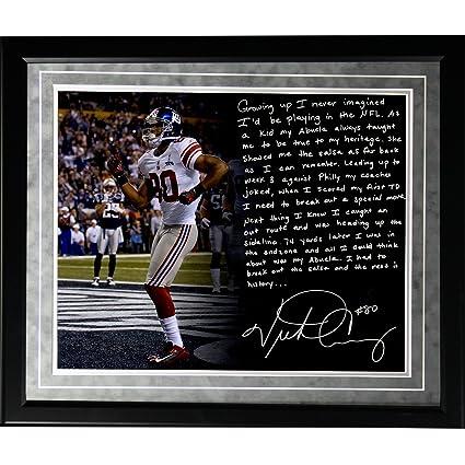 Amazon.com   NFL New York Giants Framed 16x20 Victor Cruz Facsimile ... 630ca80c1