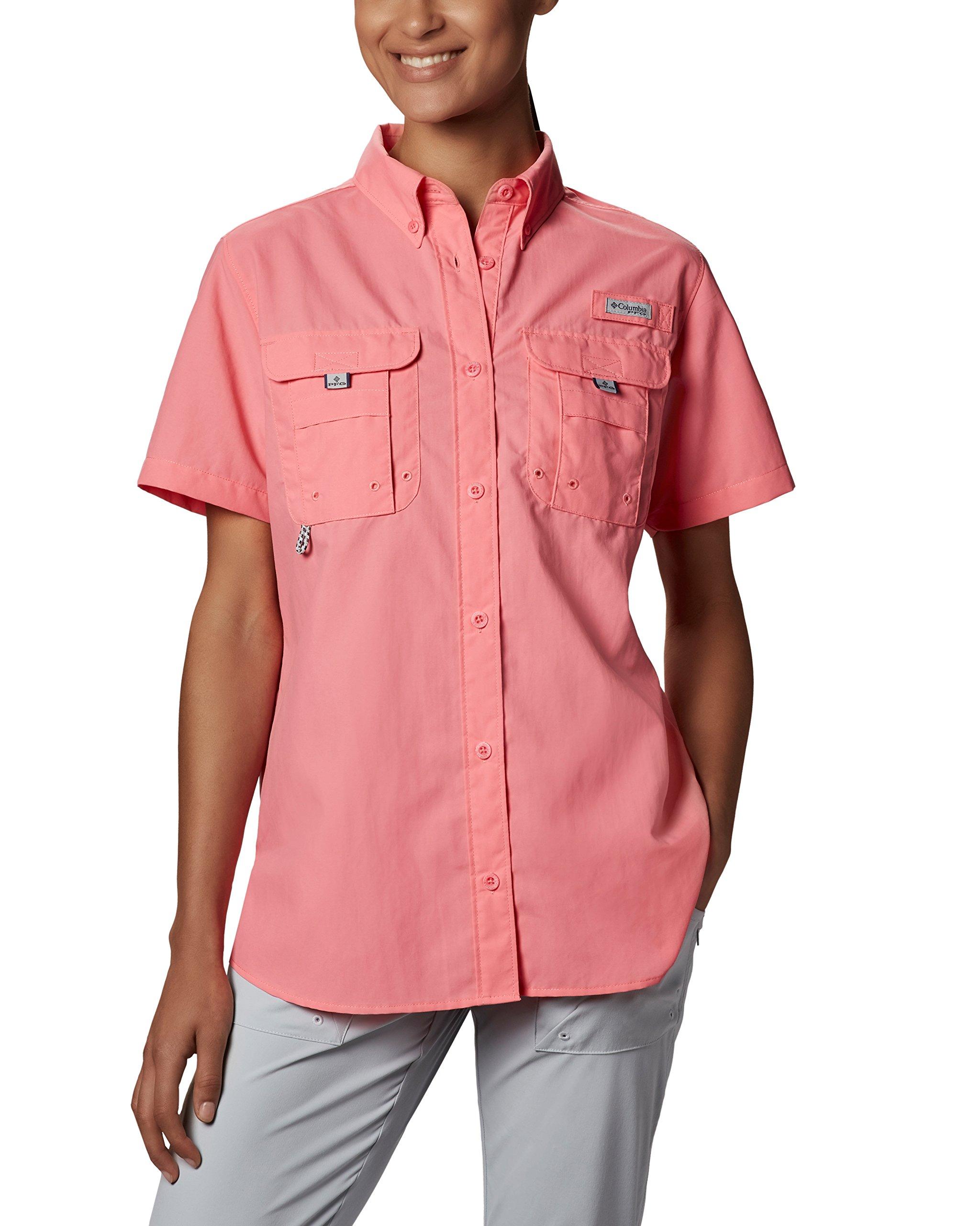 Columbia Women's Bahama Short Sleeve, Lollipop, X-Large