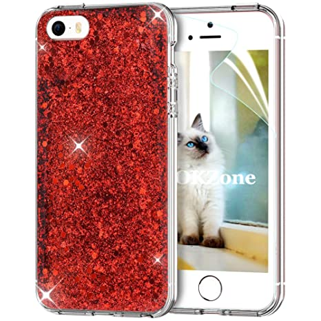 OKZone Coque iPhone Se,Coque iPhone 5S,Coque iPhone 5, Mince Étui en ... 6d218ec4032