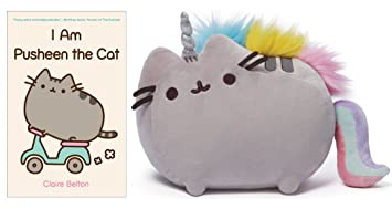 I Am Pusheen The Cat Book, Pusheen Unicorn Plush Bundle
