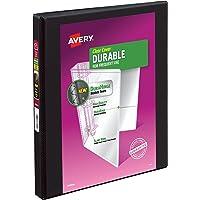 Avery 17001 Durable View Binder w/Slant Rings, 11 x 8 1/2, 1/2 inch, Black