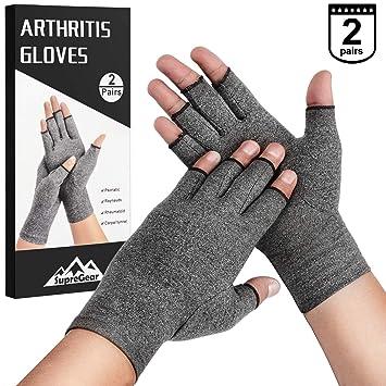 2 Pairs Supregear Arthritis Gloves Rheumatoid Arthritis Compression Gloves For Arthritis Hands Pain