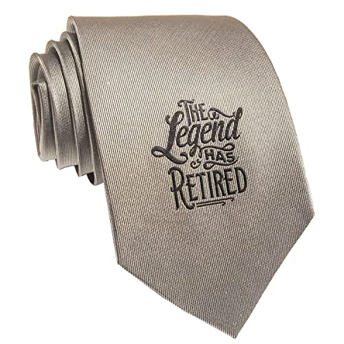 Retirement Silk Necktie For Men