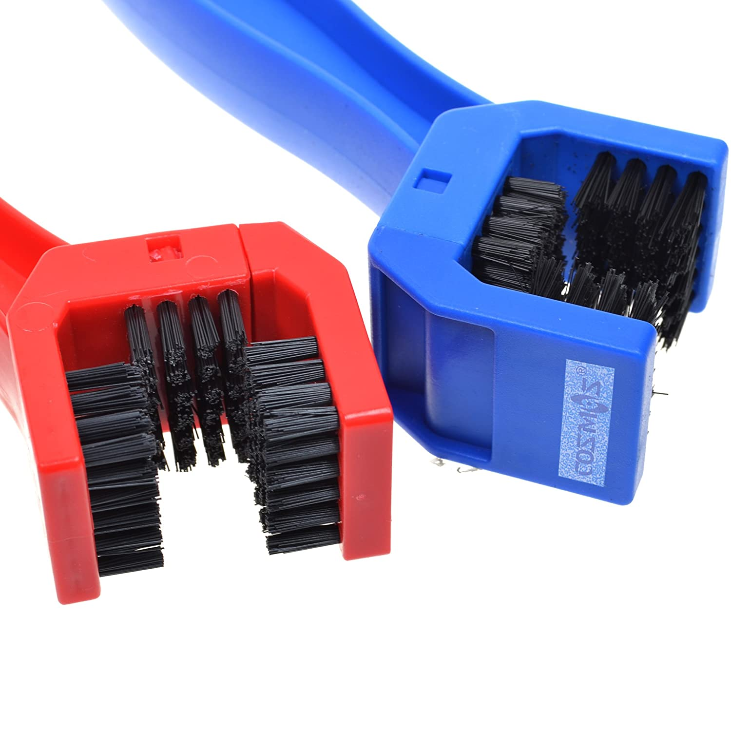 COSMOS 2 Pcs Bike Bicycle Chain Washer Cleaner Cleaning Brush . Blue and Red Color