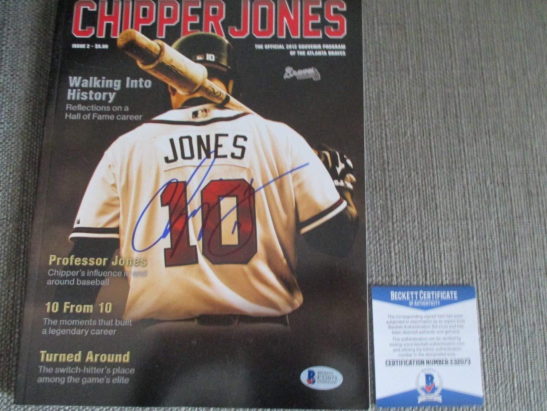 Chipper Jones Braves Autographed Signed Memorabilia 2012 Final Season Yearbook Beckett Authentic Coa