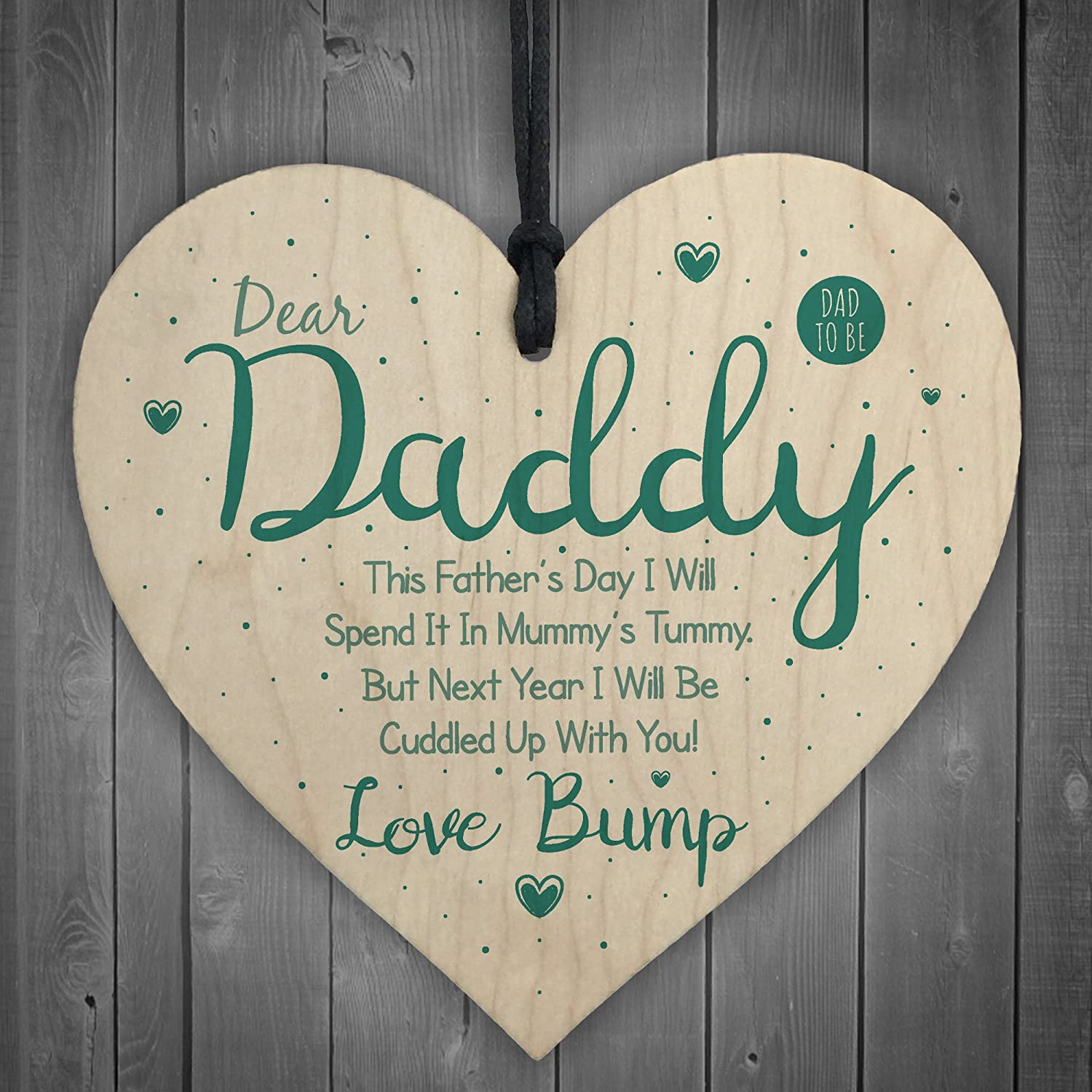 Fathers Day Gift From Daughter Novelty Wooden Heart Sign Gifts For DAD Him