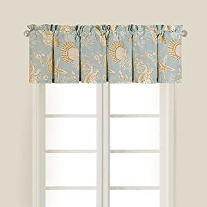 C&F Home Natural Shell Valance 72 x 15.5 inch Valance Blue