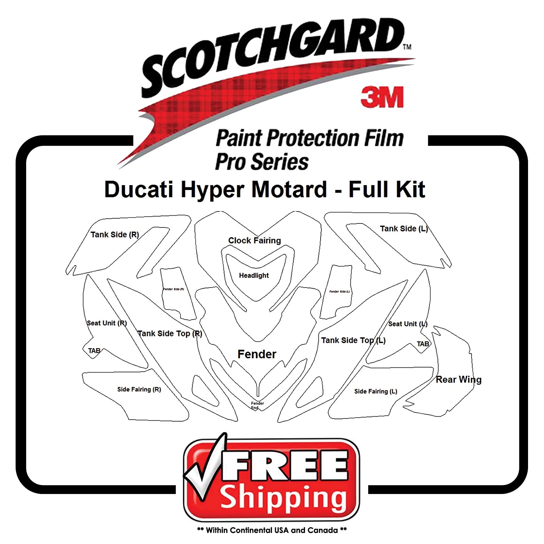 キットfor Ducati Hyper Motard 2007 – 2013 – 3 M 948 PROシリーズペイント保護   B073W46PV7