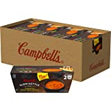 Campbell's Slow Kettle Style Microwave Soup, Tomato & Sweet Basil Bisque, Lunch Snack, 7 Ounce Cup, 2 Count (Pack of 8)