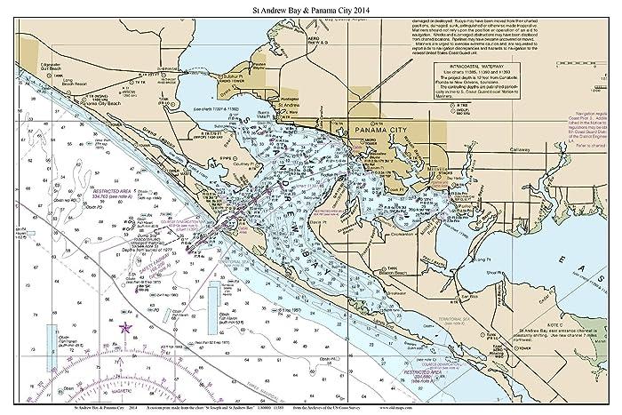 Panama City Map Of Florida.Amazon Com St Andrew Bay And Panama City 2014 Nautical Map