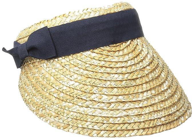 a319cda2 San Diego Hat Company Women's 4-inch Brim Wheat Straw Visor with Pop Color,