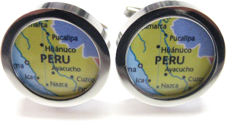 Kiola Designs Peru Map Cufflinks