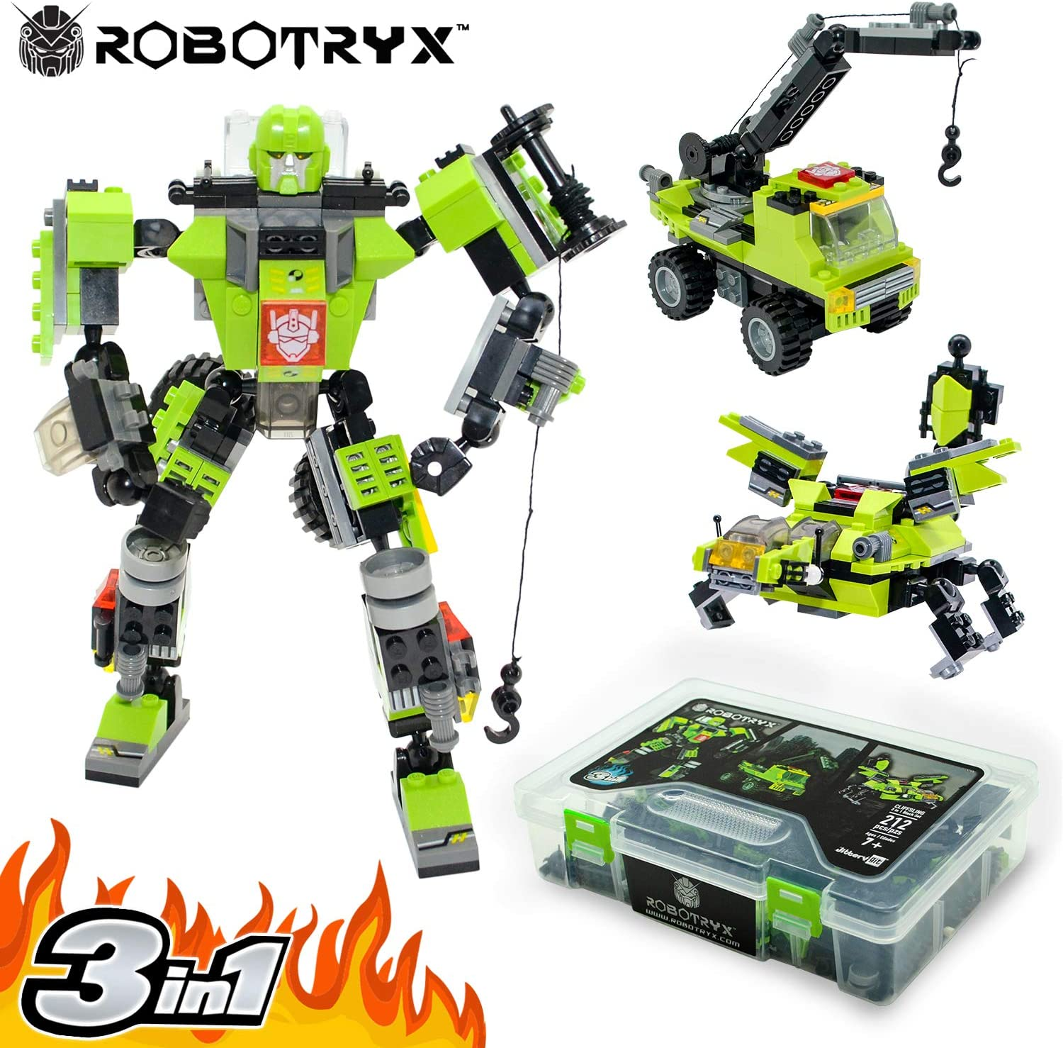 Construction Building Toys for Boys Ages 6-14 Years Old Best Toy Gift for Kids Free Poster Kit Included 3 in 1 Fun Creative Set JITTERYGIT Robot STEM Toy
