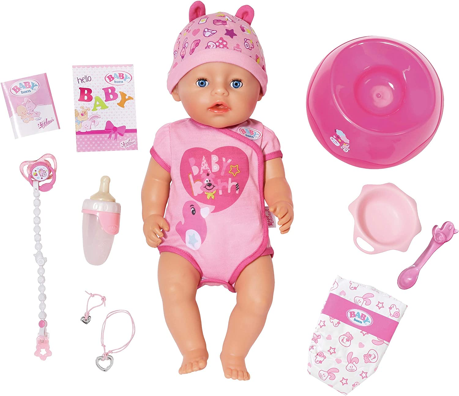 Baby Born Soft Touch Girl 43cm - Muñecas (Rosa, Femenino, Chica, 3 año(s), 430 mm, 330 mm)