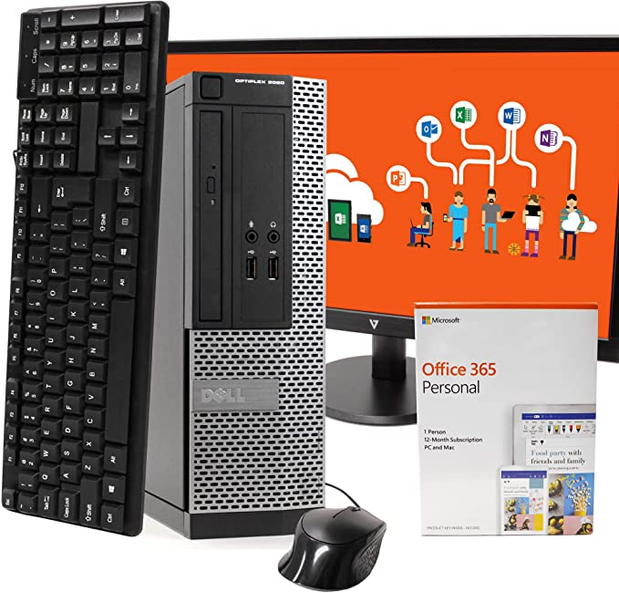 "Dell OptiPlex 3020 PC Desktop Computer, Intel i5-4570, 8GB RAM 512GB SSD, Windows 10 Pro, Microsoft Office 365 Personal, 22"" LCD, New 16GB Flash Drive, Keyboard, Mouse, WiFi, Bluetooth (Renewed) | Amazon"