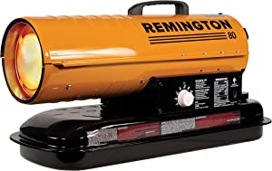 REMINGTON REM-80T-KFA-O Kerosene Heater, 80,000 BTU, Orange/Black