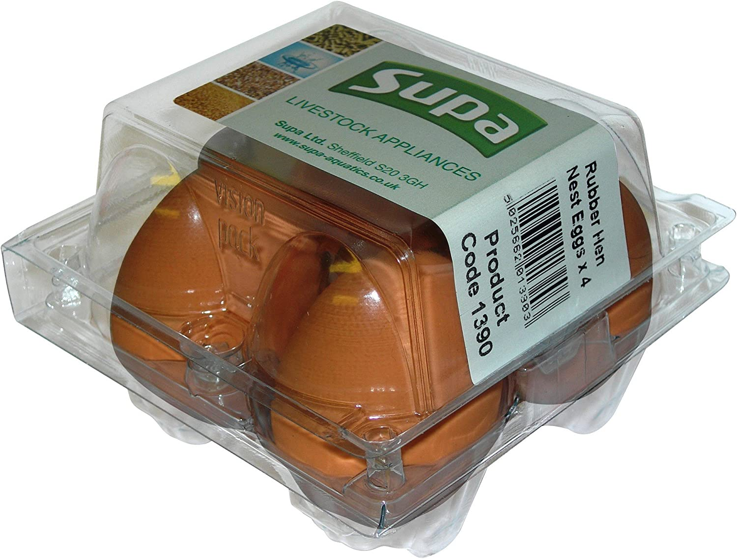 One Size Supa Rubber Hen Nest Eggs Pack Of 4 Brown