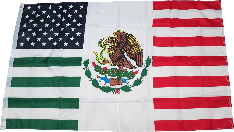 Amazon Com Trendyluz Flags Usa Mexico Friendship American Mexican Combination 3x5 Flag Garden Outdoor