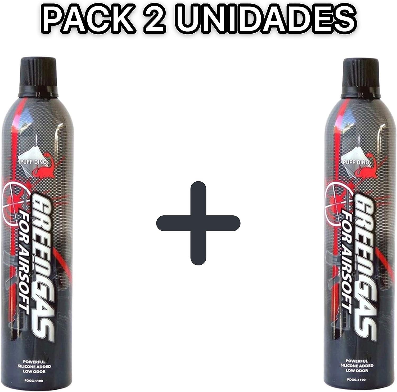 Promohobby Pack 2 Botellas Green Gas 1100 ml. 9º-14º Airsoft