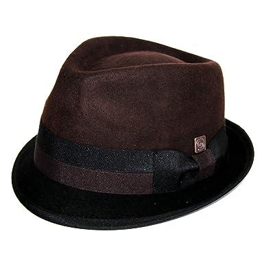 39781c5a0afaf Dasmarca Mens Stingy Brim Wool Felt Trilby Hat - Alastair Brown Black S